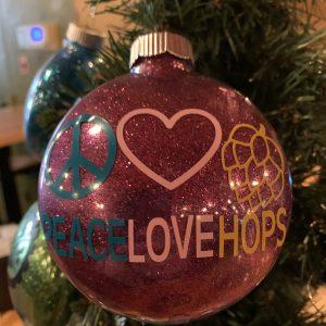 Peace Love & Hops Ornament