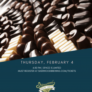 Chocolate & Beer Pairing Tix – must be 21